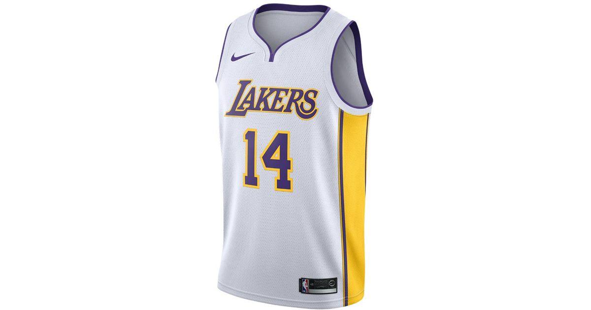 online store b7e9b 46fc6 Nike White Brandon Ingram Association Edition Swingman Jersey (los Angeles  Lakers) Men's Nba Connected Jersey for men