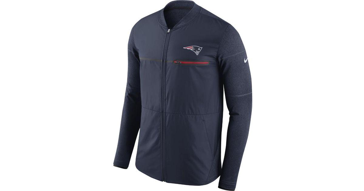 the best attitude 57506 39497 Nike Blue Shield Hybrid (nfl Patriots) Men's Full-zip Jacket for men
