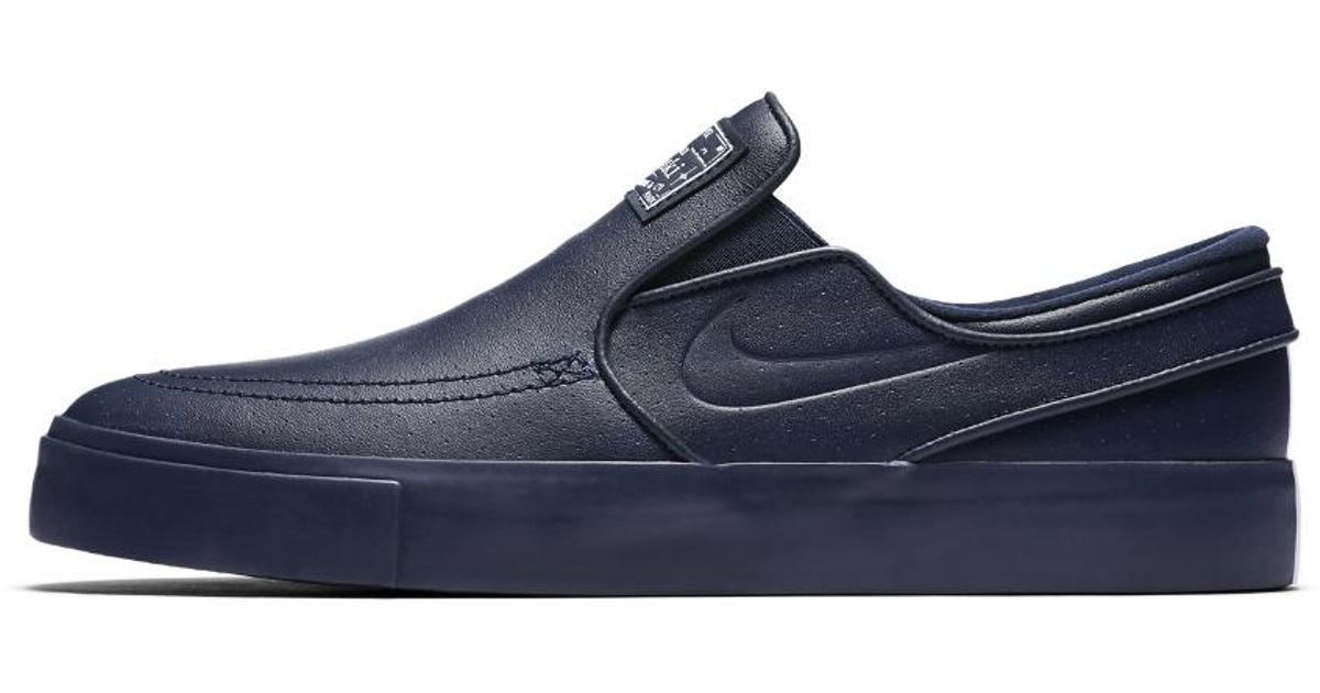 c5af5b731f94 Lyst - Nike Sb Zoom Stefan Janoski Slip-on Premium Men s Skateboarding Shoe  in Blue for Men
