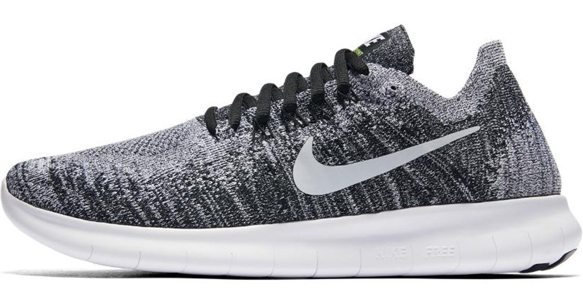 on sale 5e2d1 335e1 Nike White Free Rn Flyknit 2017 Women's Running Shoe