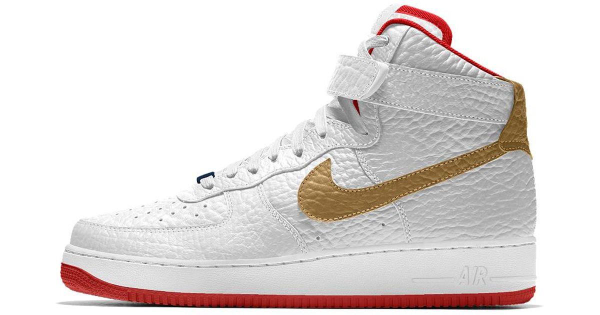 Nike Men 1 Premium High PelicansMen's Idnew Force For Orleans White Shoe Air 6yYbf7g