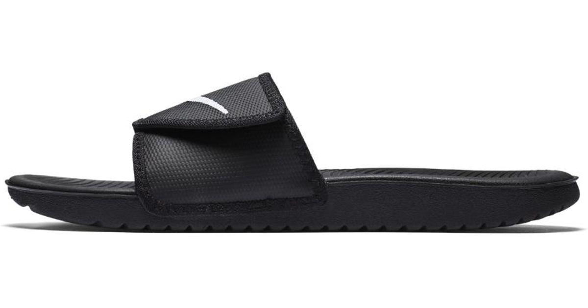 f7ba0744734c ... netherlands lyst nike kawa mens adjustable slide sandal in black for  men cff2a 13c0d