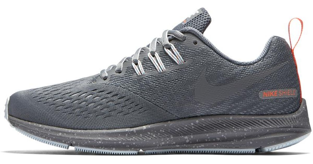 sneakers for cheap 00289 6af8e Nike Gray Air Zoom Winflo 4 Shield Women's Running Shoe