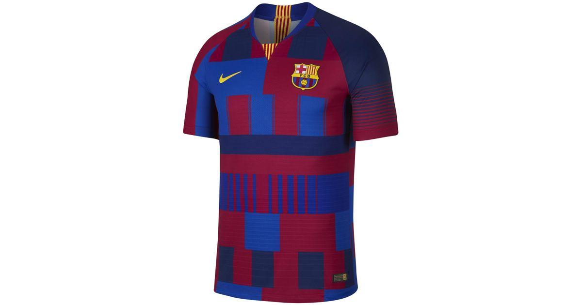 sports shoes b9027 b4613 Nike Blue Fc Barcelona 20th Anniversary Vapor Match Shirt for men