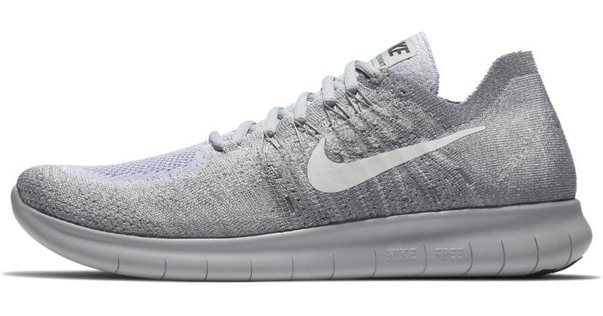 Nike Gray Free Rn Flyknit 2017 Men's Running Shoe for men