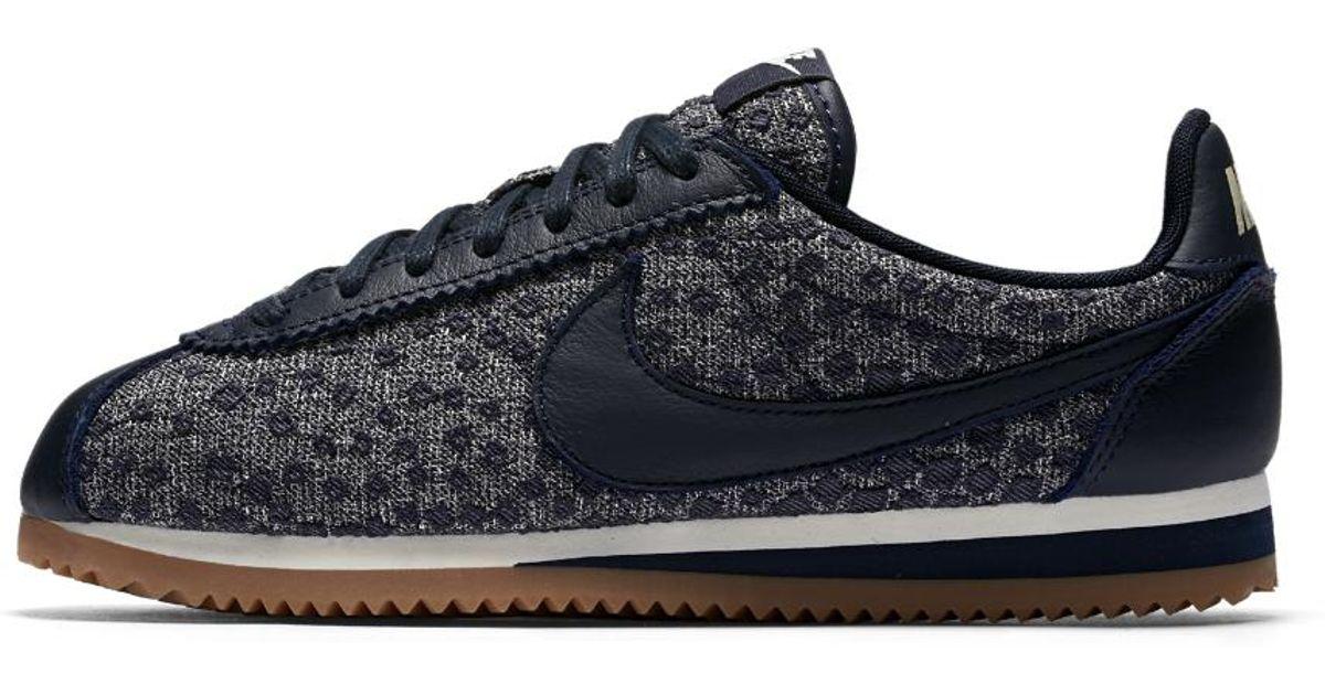 29584c7a9f6 Lyst - Nike Classic Cortez Indigo Women s Shoe in Blue