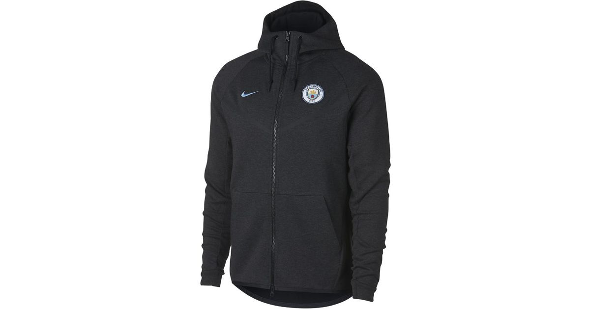 4d1669608f Lyst - Nike Manchester City Fc Tech Fleece Windrunner Men s Jacket in Black  for Men