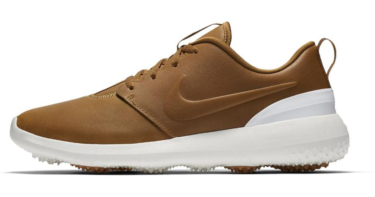 Nike Leather Roshe G Prm Golf Shoes In Brown For Men Lyst