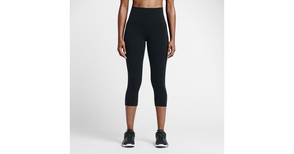 ee5dacc420b79 Lyst - Nike Power Legendary Women's High Rise Training Capri Pants in Black