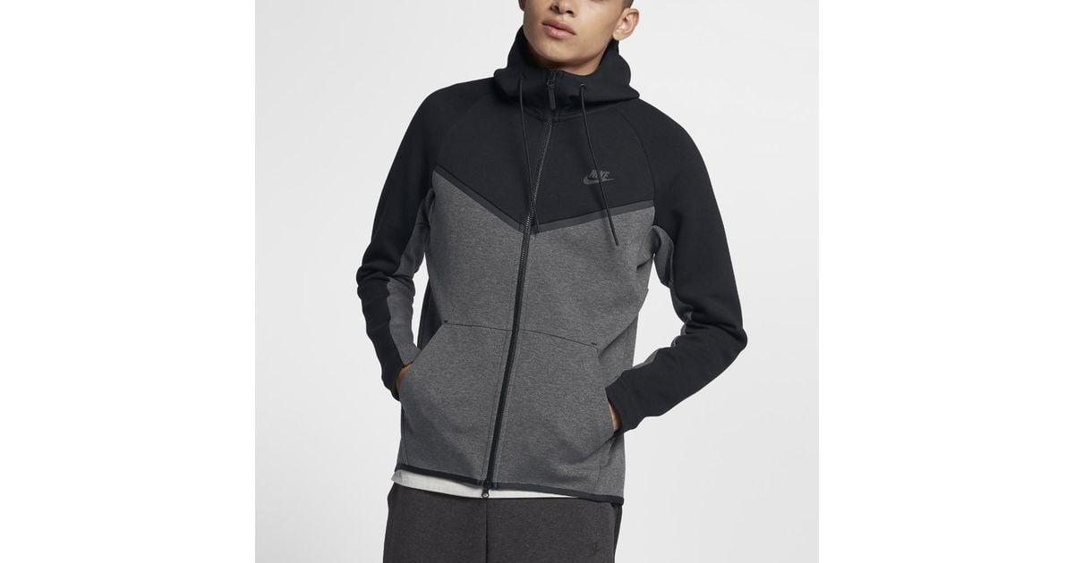 d6c16779fc8b9 Nike Sportswear Tech Fleece Windrunner Men's Full-zip Hoodie in Black for  Men - Lyst