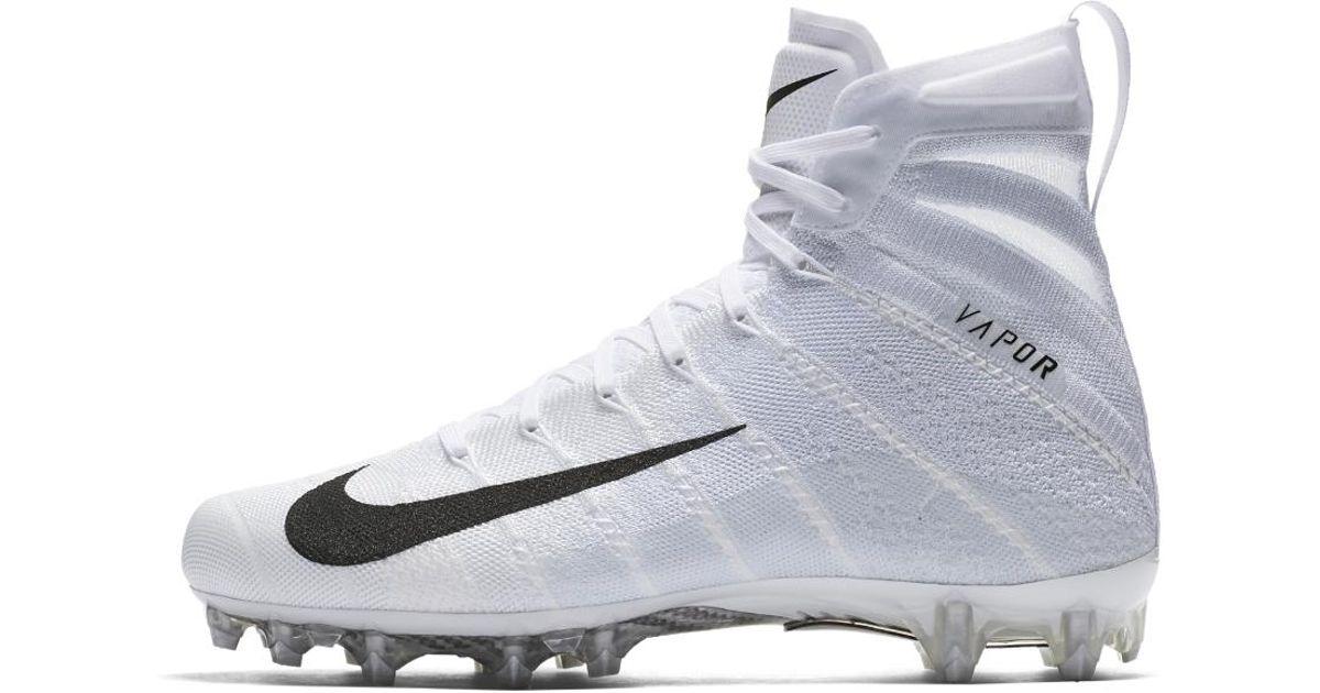 lyst nike vapor untouchable 3 elite football cleat in white for men