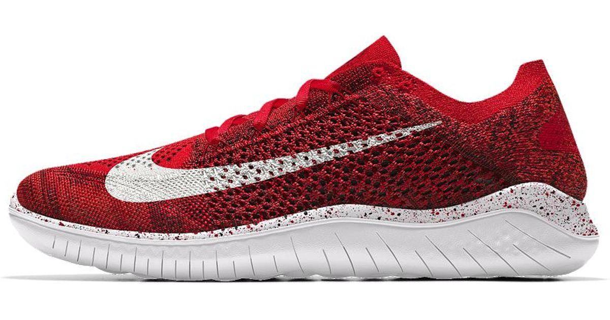 Lyst - Nike Free Rn Flyknit 2018 Id Women s Running Shoe in Red 24a060bce
