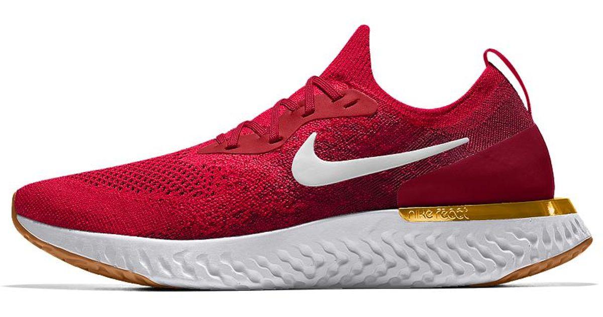 Lyst - Nike Epic React Flyknit Id Women s Running Shoe in Red e916f3901
