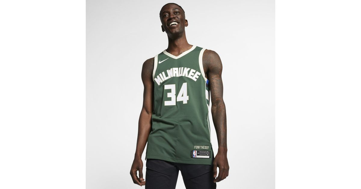 Nike Giannis Antetokounmpo Icon Edition Swingman Jersey (milwaukee Bucks) Women s  Nba Connected Jersey in Green for Men - Lyst 641288425