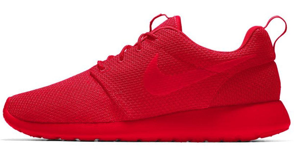 9ded558620e Lyst - Nike Roshe One Id Men s Shoe in Red for Men