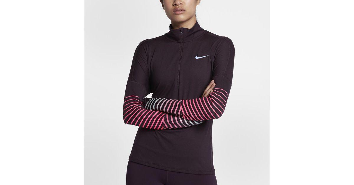 Nike Multicolor Element Flash Women's Long Sleeve Running Top