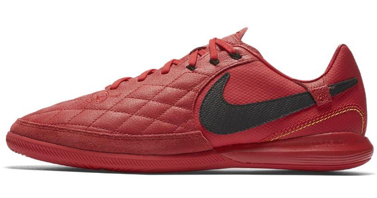 Perjudicial Cuota Palacio de los niños  Nike Leather Tiempox Lunar Legend Vii Pro 10r Indoor/court Soccer Shoe in  Red for Men - Lyst