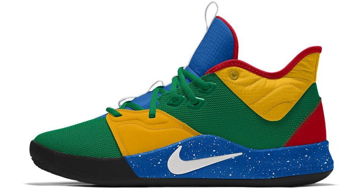Nike Pg 3 By You Custom Basketball Shoe