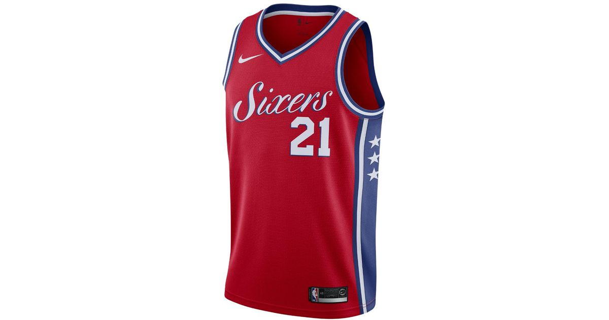 Joel Embiid Icon Edition Swingman (Philadelphia 76ers) Men's Nike NBA Connected Jersey
