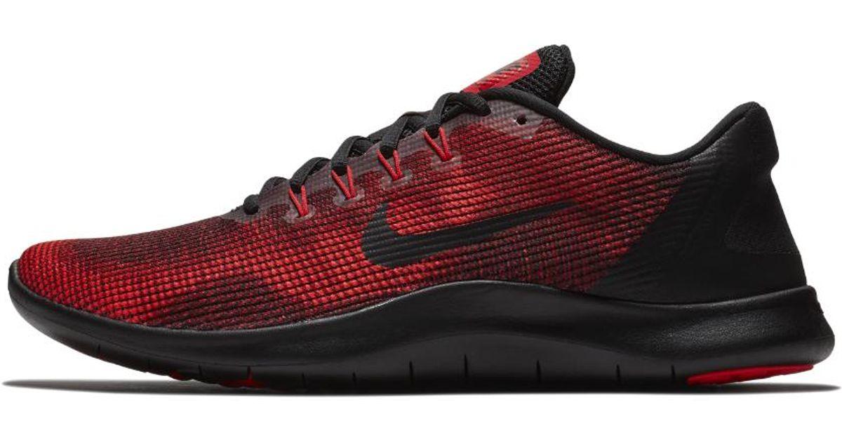 Nike Flex 2018 Rn Running Shoe in Red