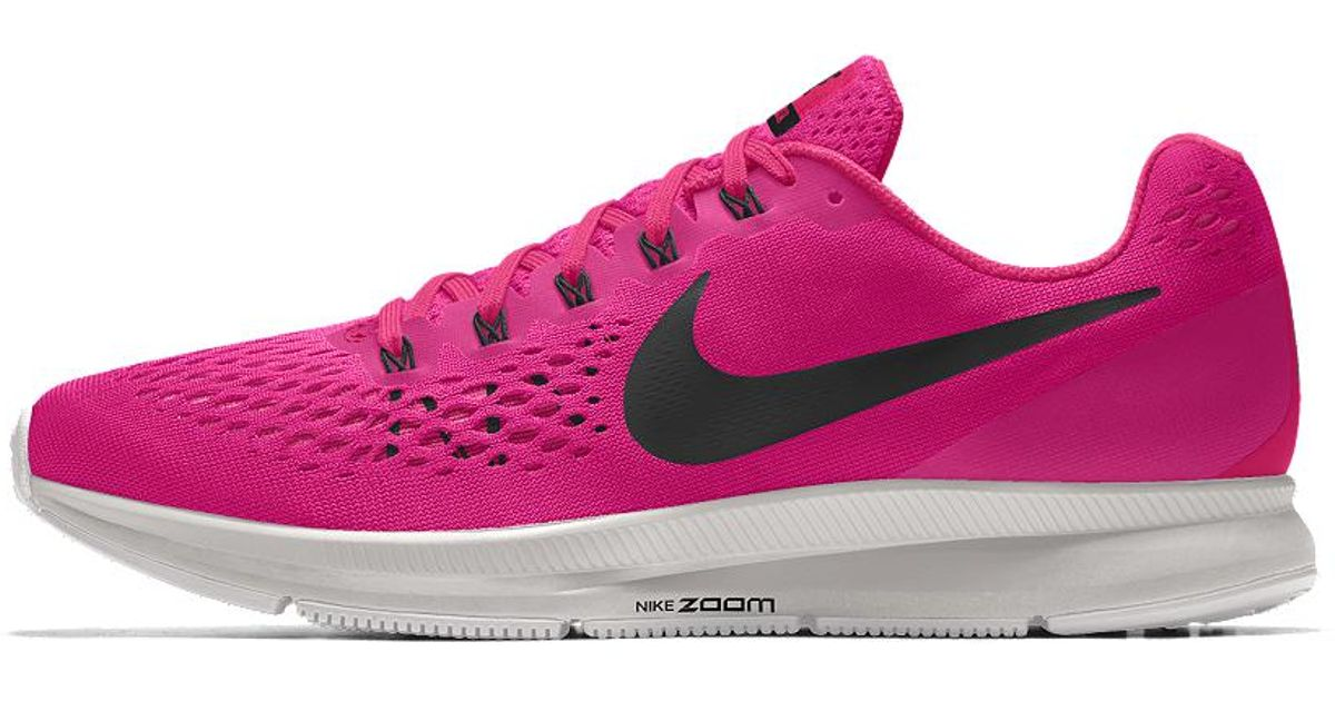 90837ed97c2 Lyst - Nike Air Zoom Pegasus 34 Id Women s Running Shoe in Pink