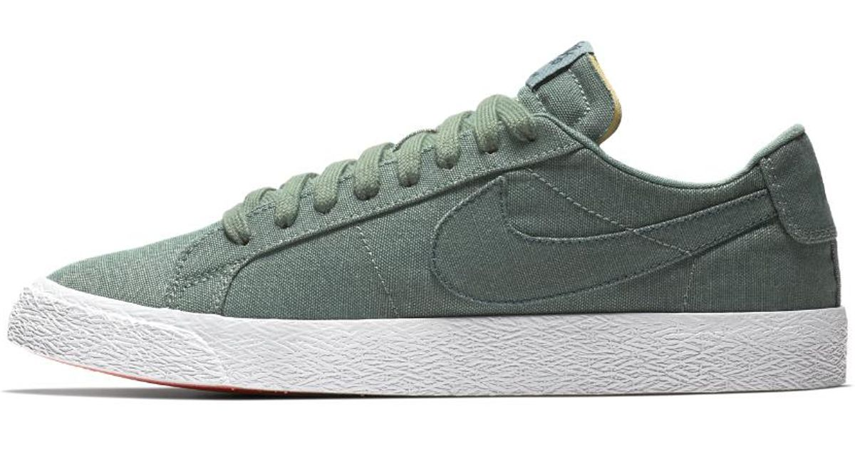 Lyst - Nike Sb Zoom Blazer Low Canvas Deconstructed Men s Skateboarding  Shoe in Green for Men - Save 13% 51c0d7eeb3
