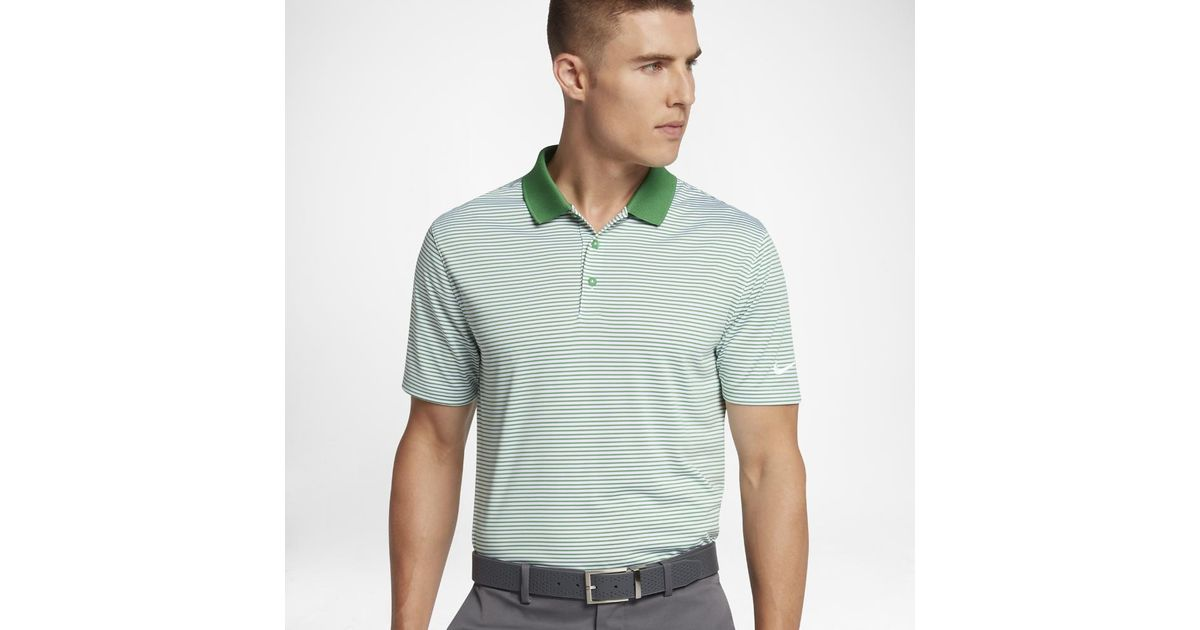 298bc729b Lyst - Nike Victory Mini Stripe Men s Standard Fit Golf Polo Shirt in Green  for Men