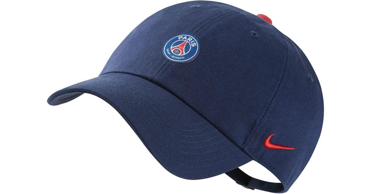 Nike Paris Saint-germain Heritage 86 Adjustable Hat in Blue - Lyst cff5f9e2f504