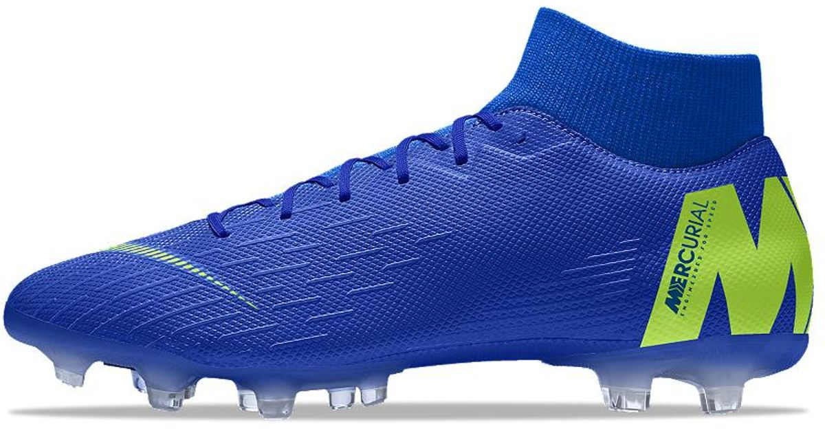 finest selection 23981 073d4 Lyst - Nike Mercurial Superfly Vi Academy Mg Id Multi-ground Soccer Cleats  in Blue for Men