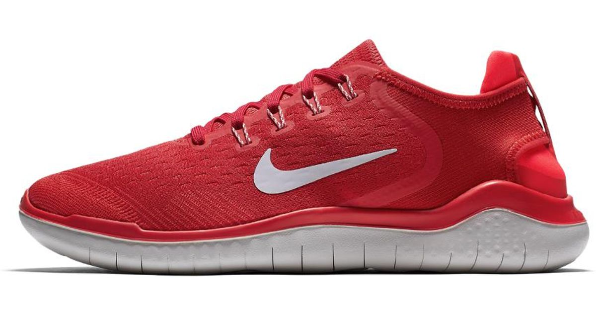 Details about Nike Free RN Flyknit 2018 University RedWhite 942838 601 Men's Running Shoes