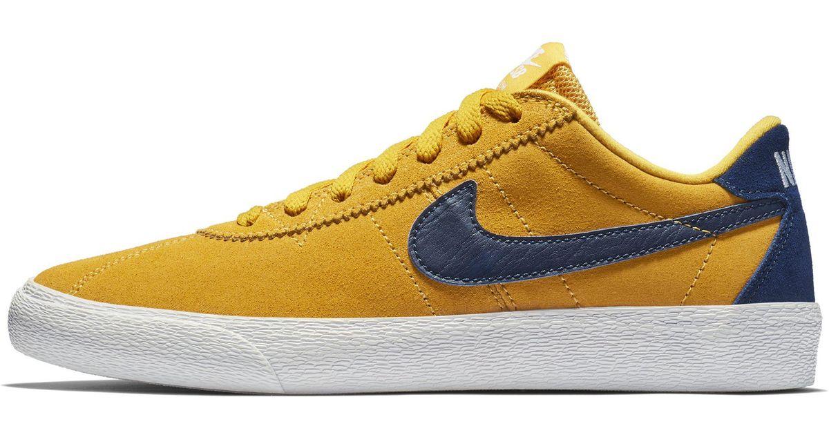 8ebb76b2195e5 Nike Sb Zoom Bruin Low Skateboarding Shoe in Yellow - Lyst