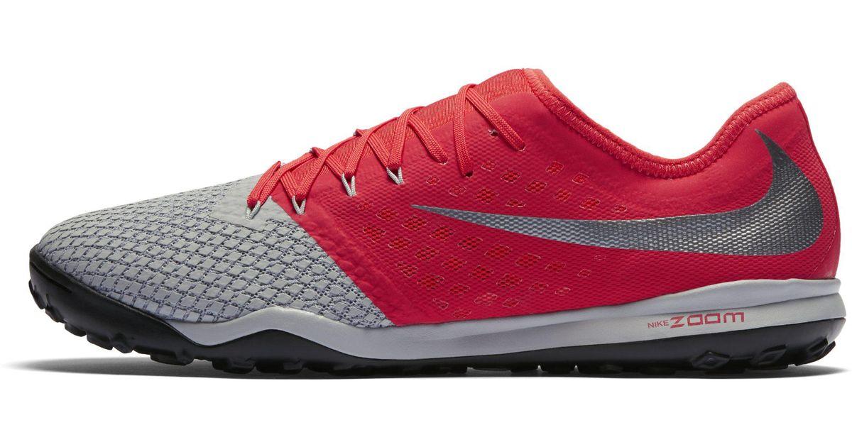 on sale fef25 54b66 Nike Gray Zoom Hypervenom Iii Pro Artificial-turf Football Shoe