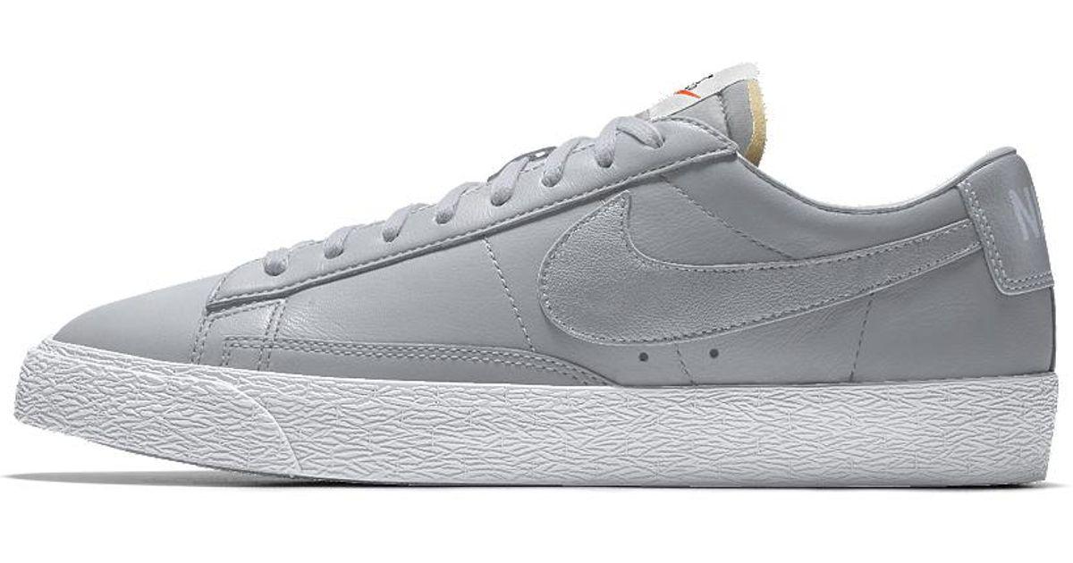 d648c933637 ... coupon code lyst nike blazer low id mens shoe in gray for men 35706  2824c spain nike blazer low id womens fashion shoes ...