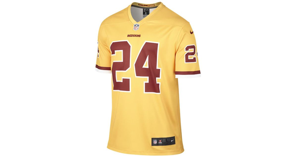 size 40 ab159 7ee79 Nike Yellow Nfl Washington Redskins Color Rush Legend (josh Norman) Men's  Football Jersey for men