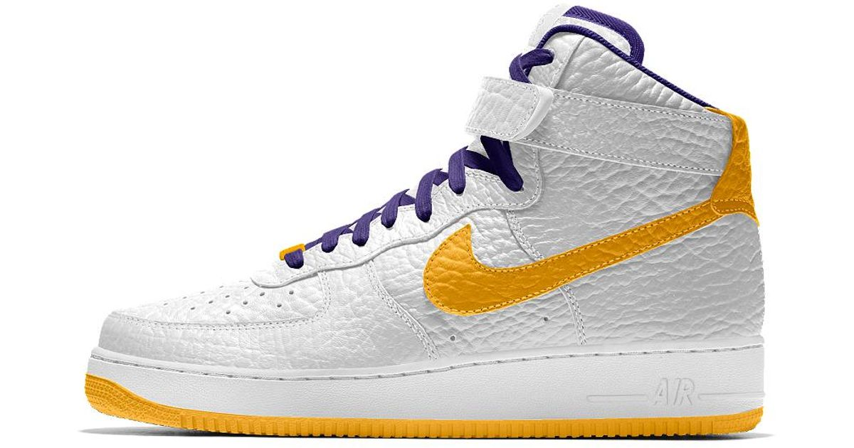 Lyst Nike Air Force 1 High Premium De Id Los Ángeles Lakers De Premium Los Hombres dfe306