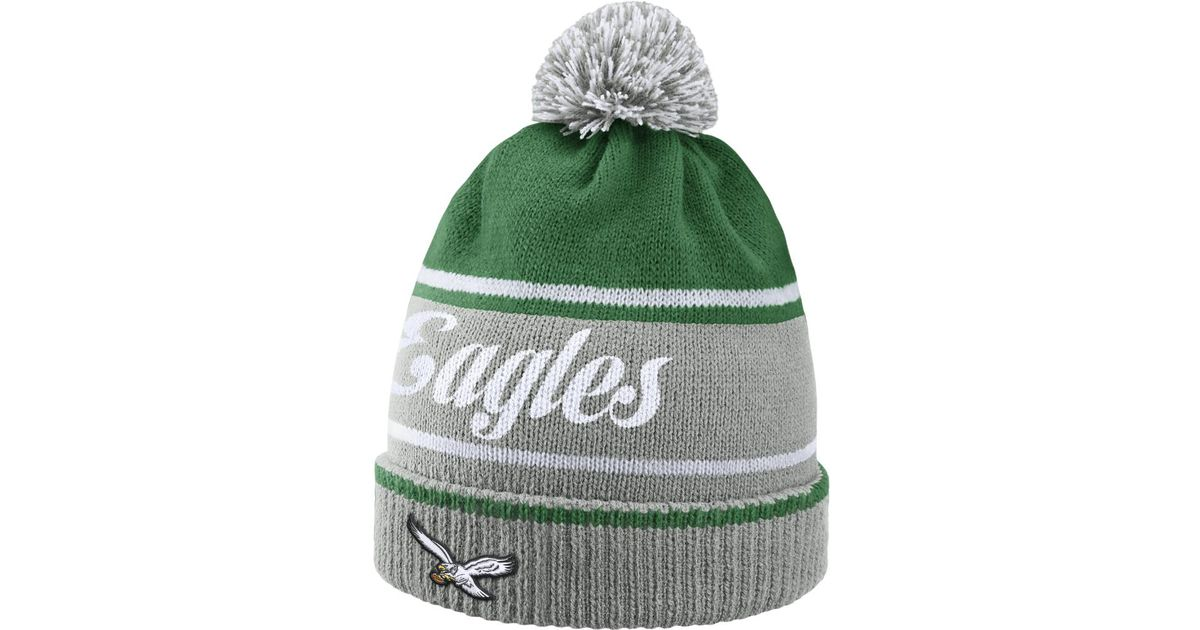 ... get lyst nike historic nfl eagles knit hat silver in green for men  7a460 1946b ... 30fe2e6b0
