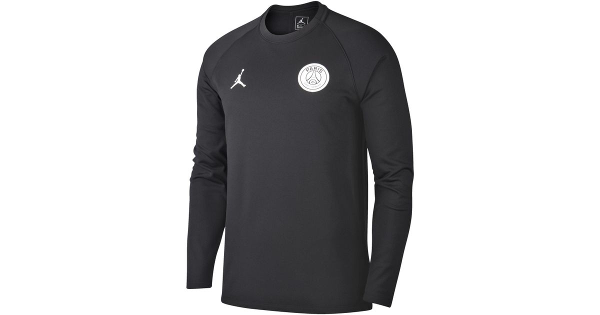 new products c1cff bc53e Nike Black Paris Saint-germain Squad Long-sleeve Football Top for men