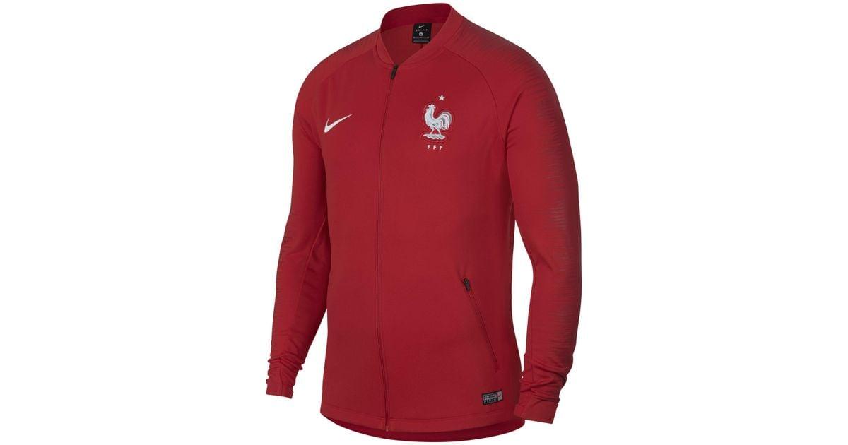 Veste de football FFF Anthem pour Nike pour homme en coloris Red
