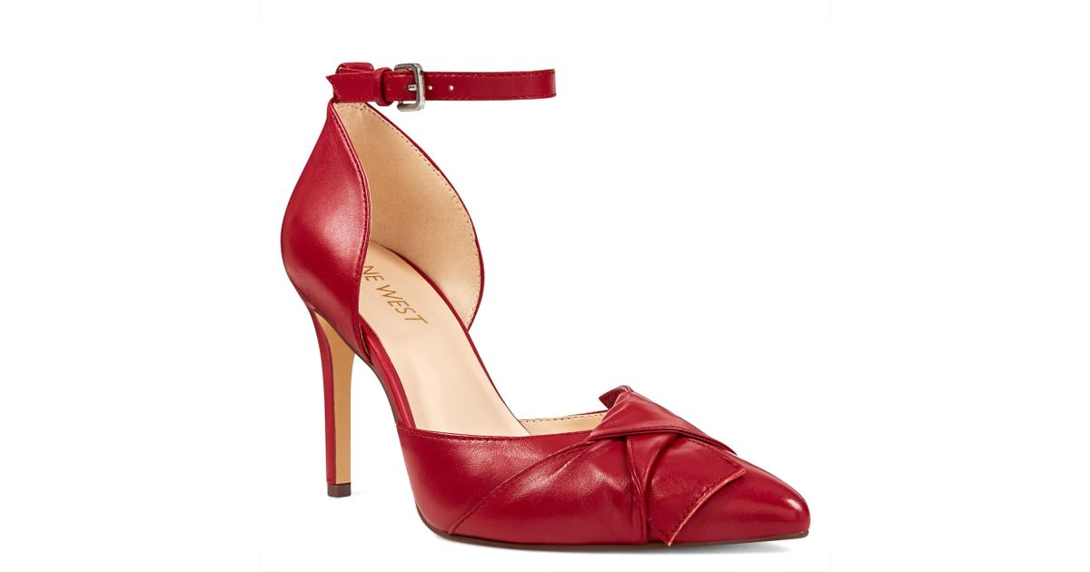 f9a42a6d99dc Lyst - Nine West Faintly Pointy Toe Pumps in Red