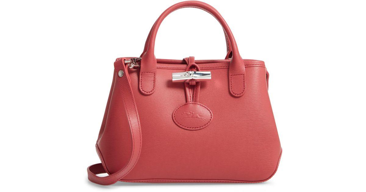 6c87f0f8b Longchamp Mini Roseau Leather Crossbody Bag - Save 33% - Lyst