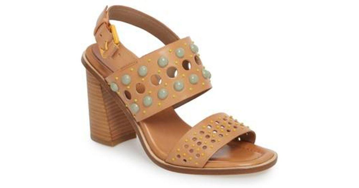 Estee Colored Stud Detail Slingback Dress Sandals cPaIA