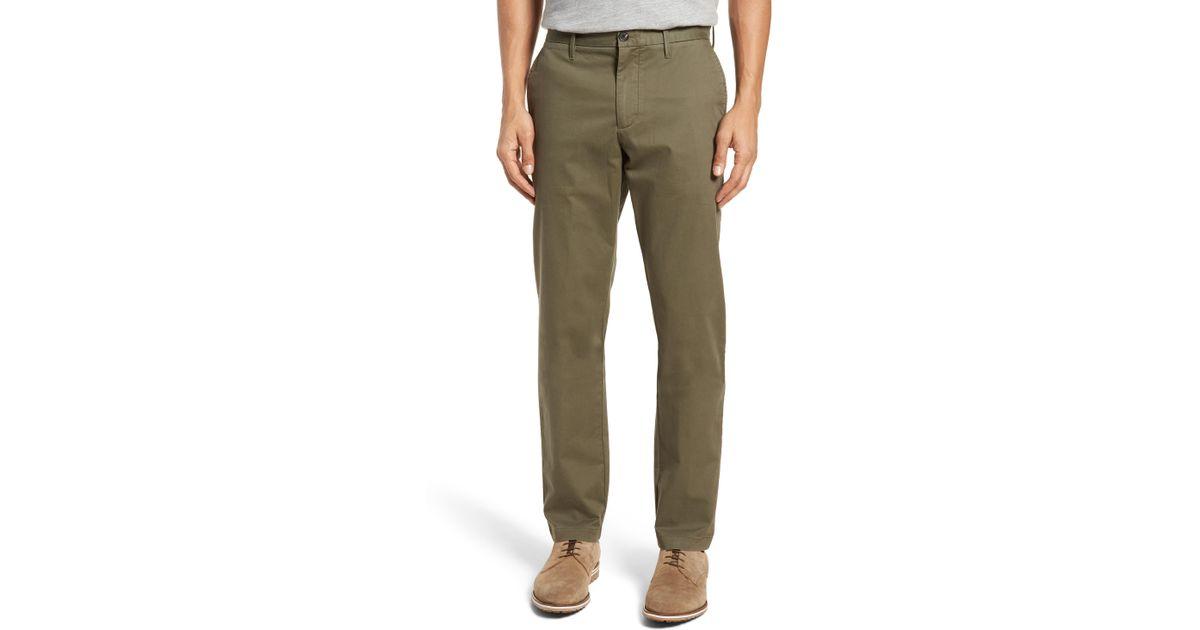ebd6a0c910 Lyst - Nordstrom 1901 Ballard Slim Fit Stretch Chino Pants in Green for Men