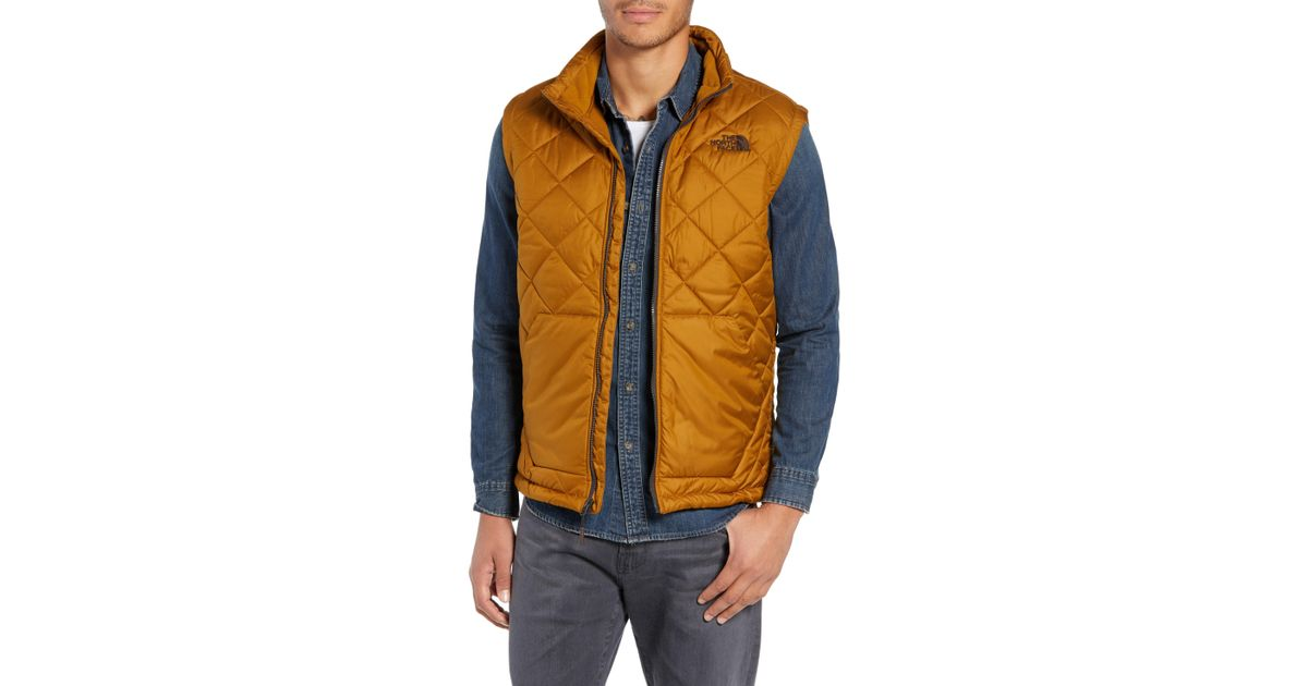 b3e4ff95a The North Face Brown Cervas Water Repellent Heatseeker(tm) Insulated Vest  for men