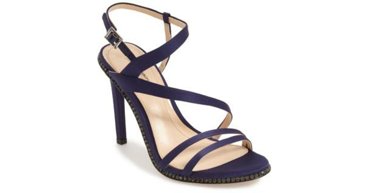 42d1567dec2d Lyst - Imagine Vince Camuto Gian Satin Strappy Sandals in Black