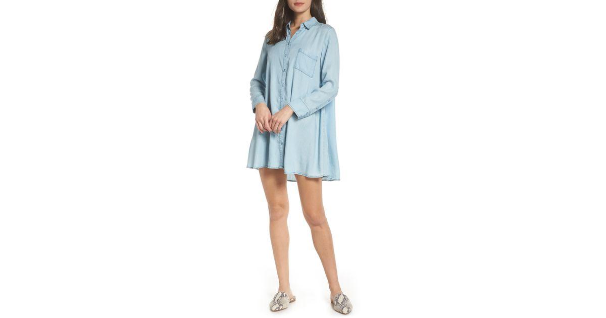132b4c60802f BB Dakota Indigo Shirtdress in Blue - Lyst