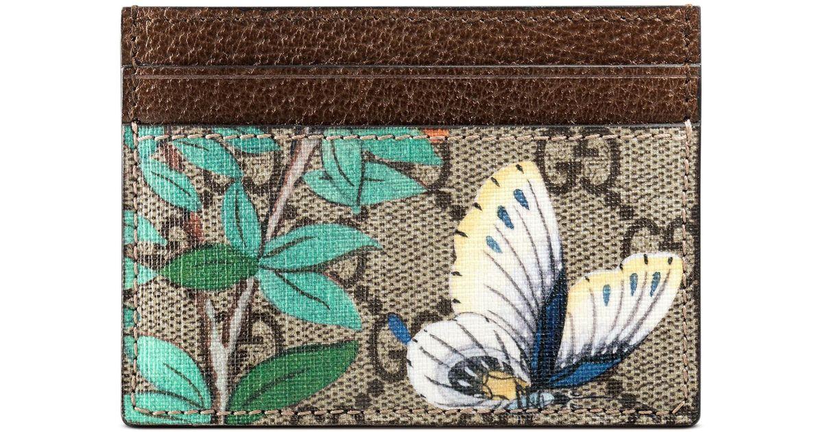 timeless design d1632 8d7ec Gucci Multicolor Butterfly Card Case - for men