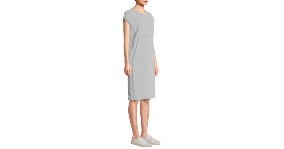 661fcbc5c1aa Champion Heavyweight Jersey T-shirt Dress in Gray - Lyst