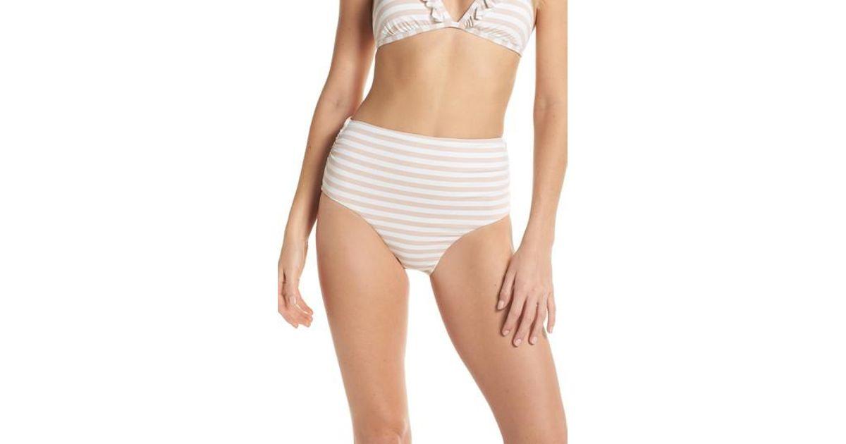 609eef38664 Chelsea28 High Waist Bikini Bottoms - Lyst