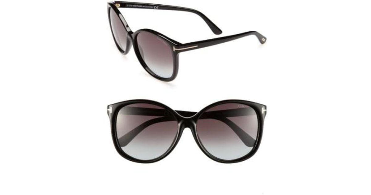 d2490fe6ce8 Lyst - Tom Ford  alicia  59mm Sunglasses - Shiny Black in Black