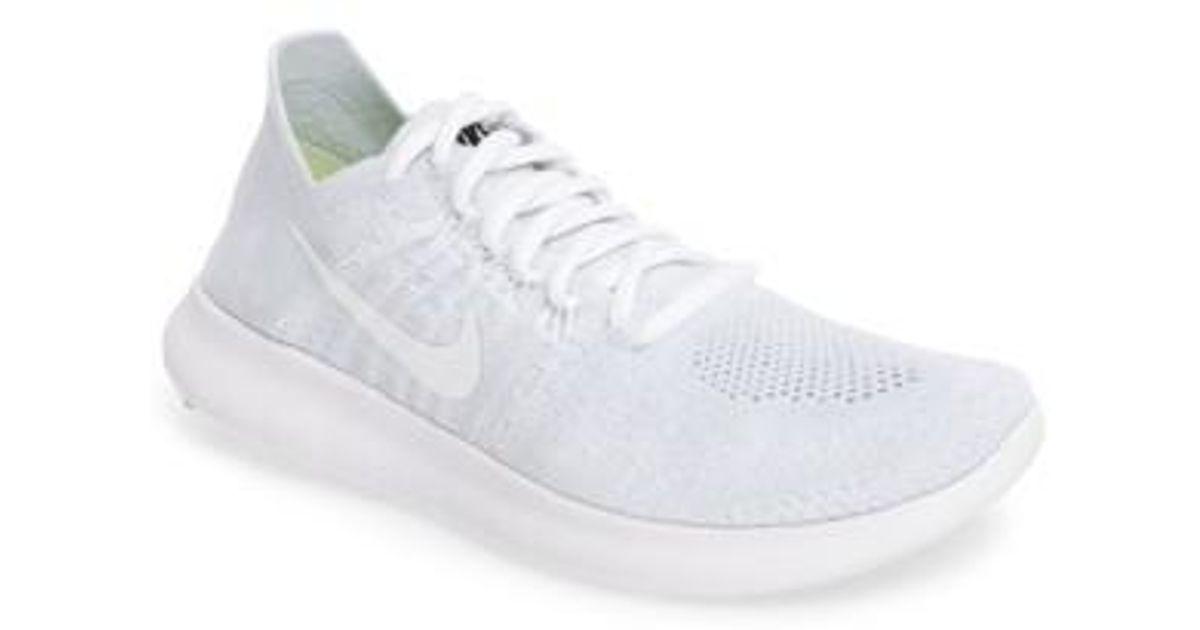 uk availability de771 346f7 Lyst - Nike Free Run Flyknit 2 Running Shoe in White